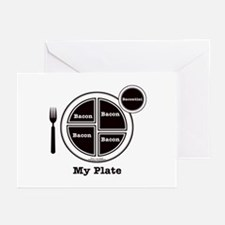 Bacon My Plate Greeting Cards (Pk of 10)