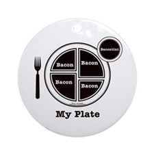 Bacon My Plate Ornament (Round)