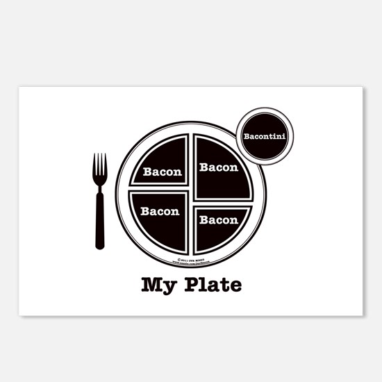 Bacon My Plate Postcards (Package of 8)