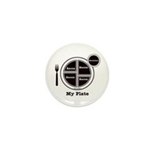 Bacon My Plate Mini Button (100 pack)