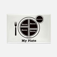 Bacon My Plate Rectangle Magnet (10 pack)