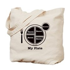 Bacon My Plate Tote Bag