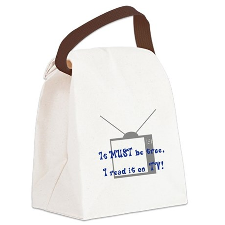Read on TV Light New.jpg Canvas Lunch Bag