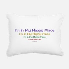 Happy Place black.png Rectangular Canvas Pillow