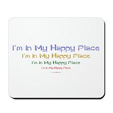 Happy Place black.png Mousepad