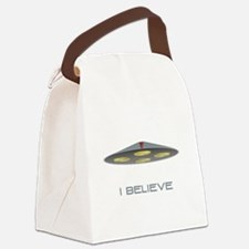 I Believe UFO White.png Canvas Lunch Bag