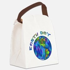 Earth Day World Canvas Lunch Bag