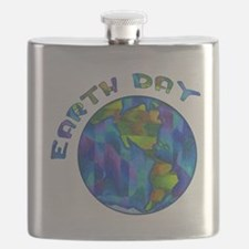 Earth Day World Flask