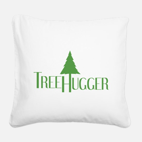 Tree Hugger Square Canvas Pillow