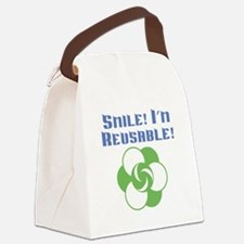 Smile Im Reusable Canvas Lunch Bag