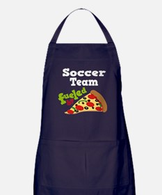Soccer Team Fueled By Pizza Apron (dark)