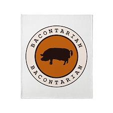 Bacontarian Throw Blanket
