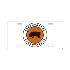 Bacontarian Aluminum License Plate