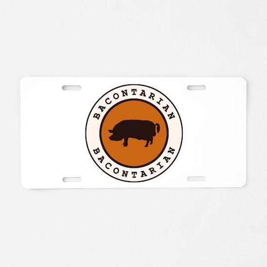 Bacontarian Aluminum License Plate