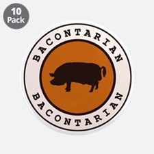"""Bacontarian 3.5"""" Button (10 pack)"""