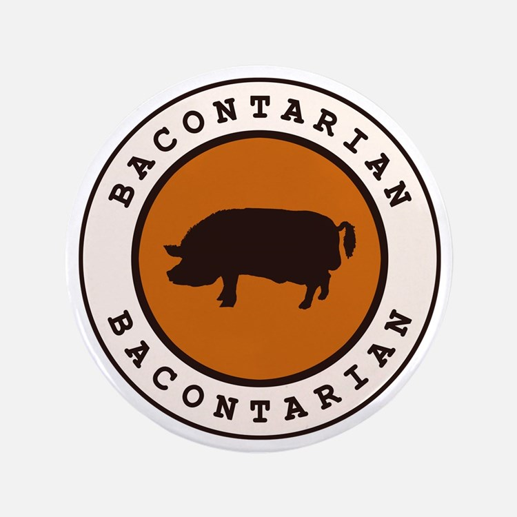 "Bacontarian 3.5"" Button (100 pack)"