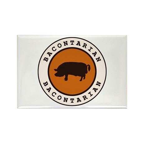 Bacontarian Rectangle Magnet