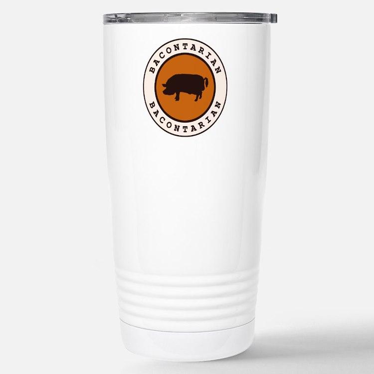 Bacontarian Stainless Steel Travel Mug