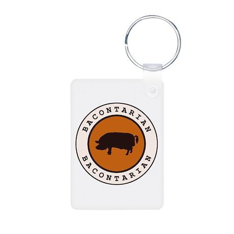 Bacontarian Aluminum Photo Keychain