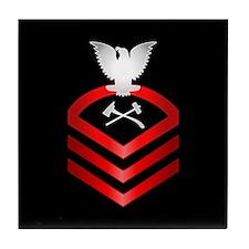 Navy Chief Damage Control Tile Coaster