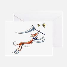 Ibizan Hound Butterflies Greeting Card