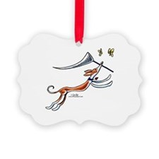 Ibizan Hound Butterflies Ornament