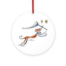 Ibizan Hound Butterflies Ornament (Round)
