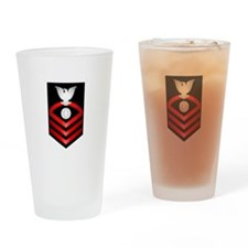 Navy Chief Electrician's Mate Drinking Glass