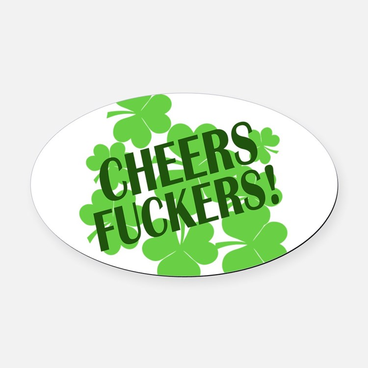 CHEERS 88595190.png Oval Car Magnet