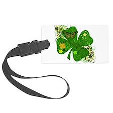 Fancy Irish 4 leaf Clover Luggage Tag