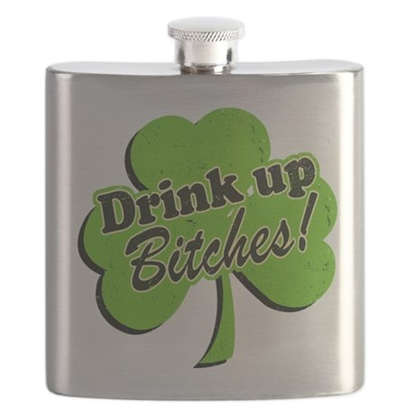 Drink Up Bitches Distressed 88557430.png Flask