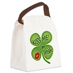 Kissmeimirish2012.png Canvas Lunch Bag