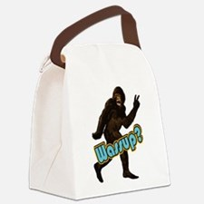 Bigfoot Sasquatch Yetti Wassup Canvas Lunch Bag