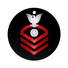 Navy Chief Electrician's Mate Ornament (Round)