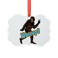 Bigfoot Sasquatch Yetti Wassup Ornament