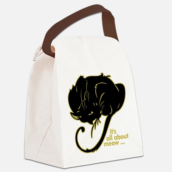 allaboutmeow.png Canvas Lunch Bag