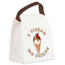 I SCREAM.png Canvas Lunch Bag