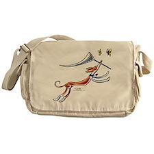 Ibzian Hound Butterflies Messenger Bag