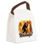 Bigfoot Whats Up.png Canvas Lunch Bag