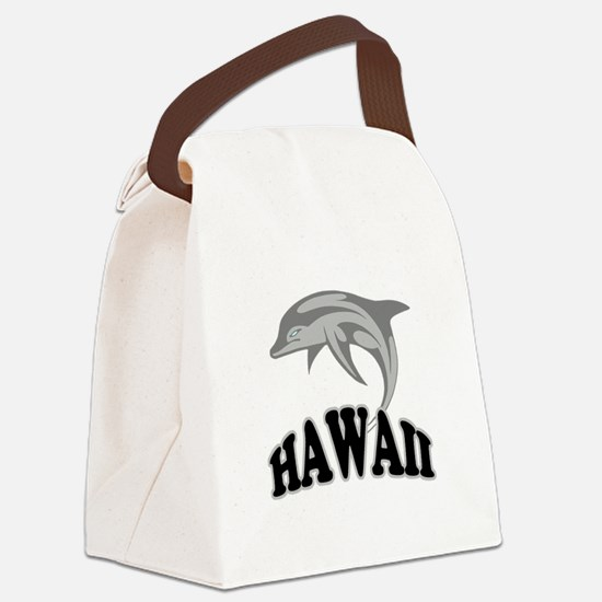 Hawaii Dolphin.png Canvas Lunch Bag