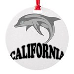 California Dolphin.png Round Ornament