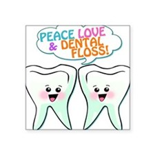838450852peacelovedentalfloss3.png Square Sticker