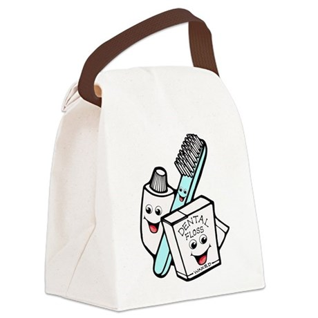 dental24.png Canvas Lunch Bag