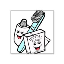 "dental24.png Square Sticker 3"" x 3"""
