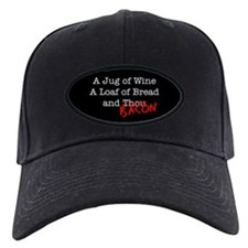 Bacon A Jug of Wine Baseball Hat