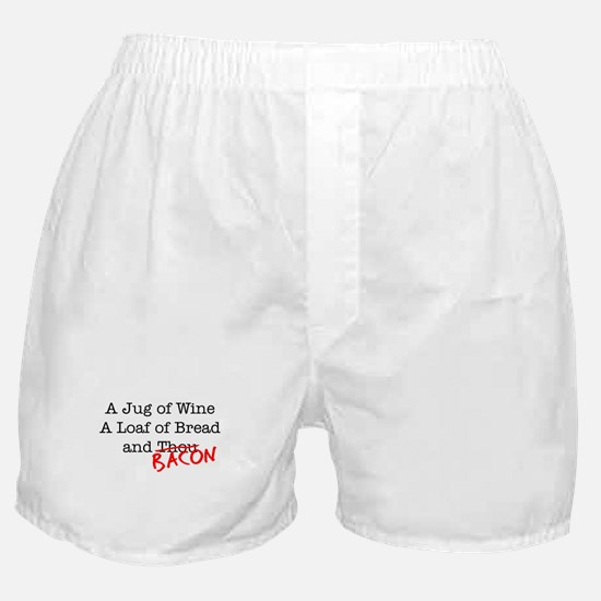 Bacon A Jug of Wine Boxer Shorts