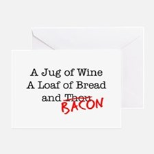 Bacon A Jug of Wine Greeting Card