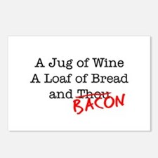 Bacon A Jug of Wine Postcards (Package of 8)
