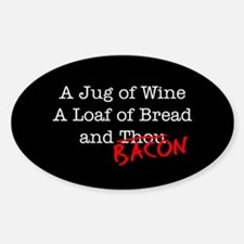 Bacon A Jug of Wine Decal