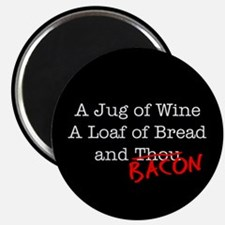 """Bacon A Jug of Wine 2.25"""" Magnet (100 pack)"""